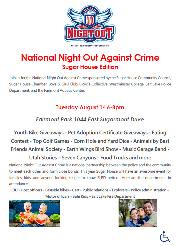 Night out against crime flyer