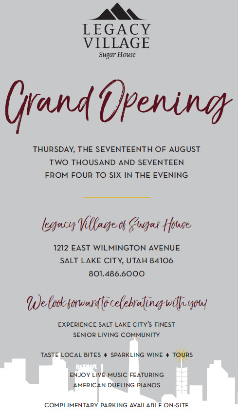 Grand Opening Event Details